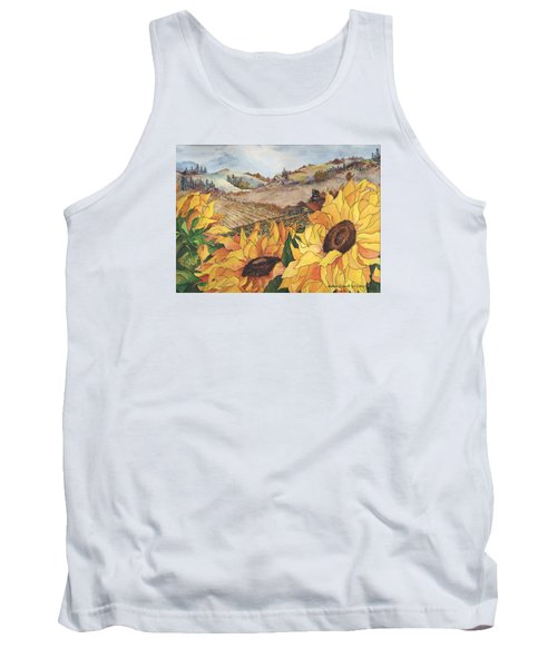 Sunflower Serenity Tank Top