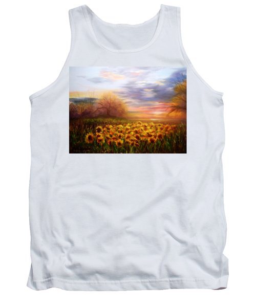 Sunflower Sunset Tank Top by Patti Gordon