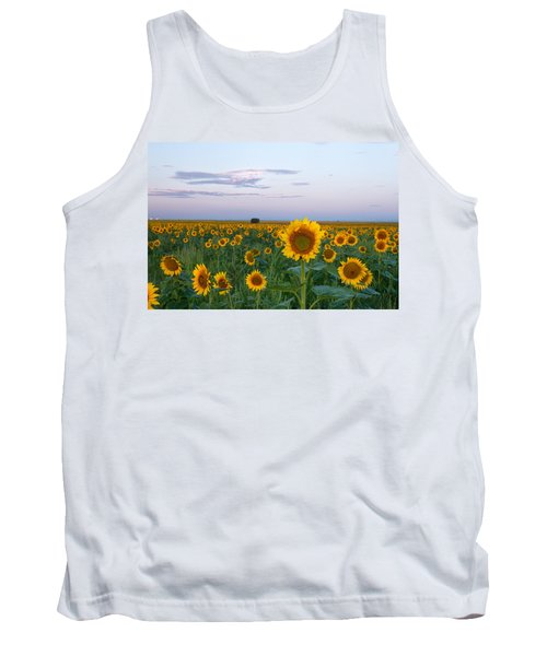 Sunflowers At Sunrise Tank Top