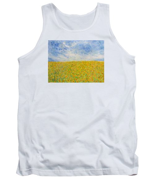Sunflowers  Field In Texas Tank Top