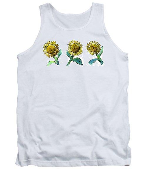 Sunflowers Trio Tank Top