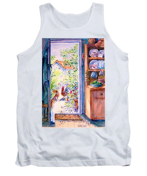 Sunlit Cottage Doorway  Tank Top by Trudi Doyle