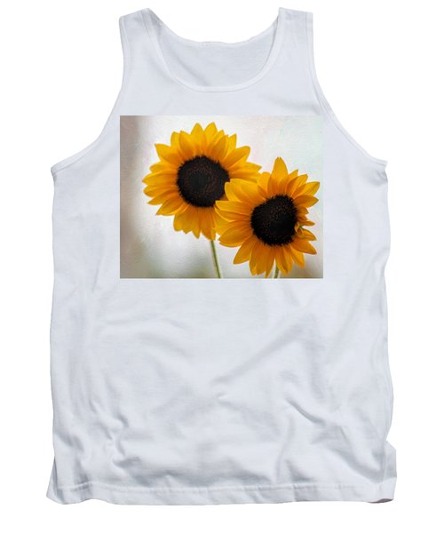 Sunny Flower On A Rainy Day Tank Top by Tammy Espino