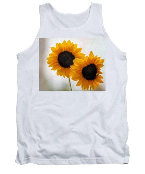 Sunny Flower On A Rainy Day Tank Top