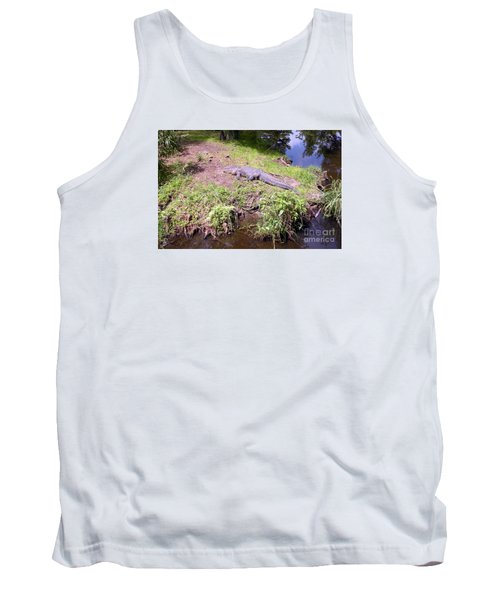 Tank Top featuring the photograph Sunny Gator  by Joseph Baril
