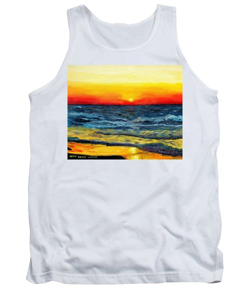 Tank Top featuring the painting Sunrise Over Paradise by Shana Rowe Jackson