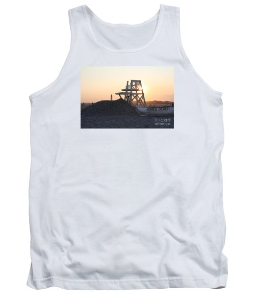 Tank Top featuring the photograph Sunset At Jones Beach by John Telfer