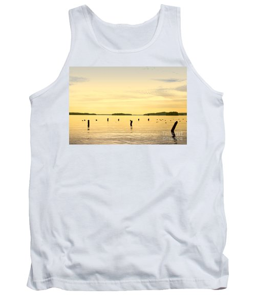 Tank Top featuring the photograph Sunset At Lake Muskoka by Les Palenik