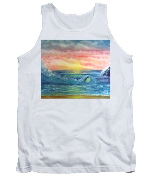 Sunset At The Seashore  Tank Top by Becky Lupe