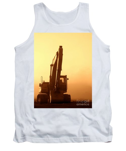 Sunset Excavator Tank Top