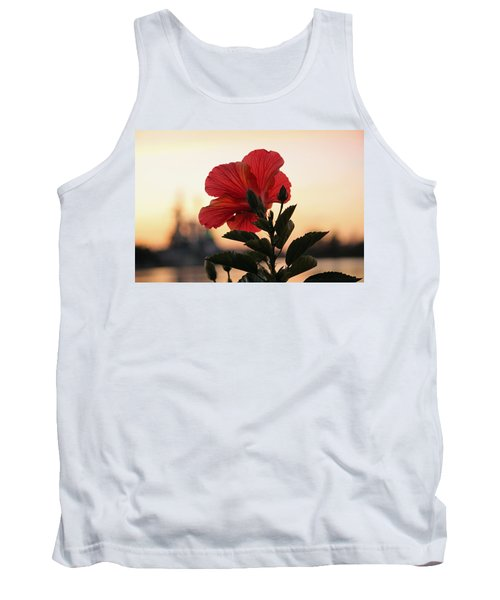 Tank Top featuring the photograph Sunset Flower by Cynthia Guinn