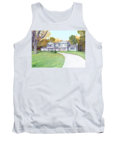 Sunset House In Fall Tank Top