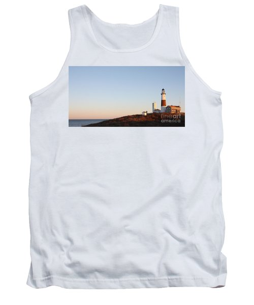 Tank Top featuring the photograph Sunset Over Montauk Lighthouse by John Telfer