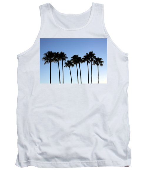 Tank Top featuring the photograph Sunset Palms by Chris Thomas