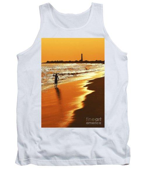 Sunset Surfer Tank Top