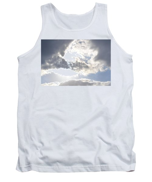 Tank Top featuring the photograph Sunshine Through The Clouds by Tara Potts