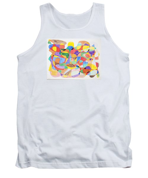 Tank Top featuring the painting Abstract Dance Party  by Stormm Bradshaw