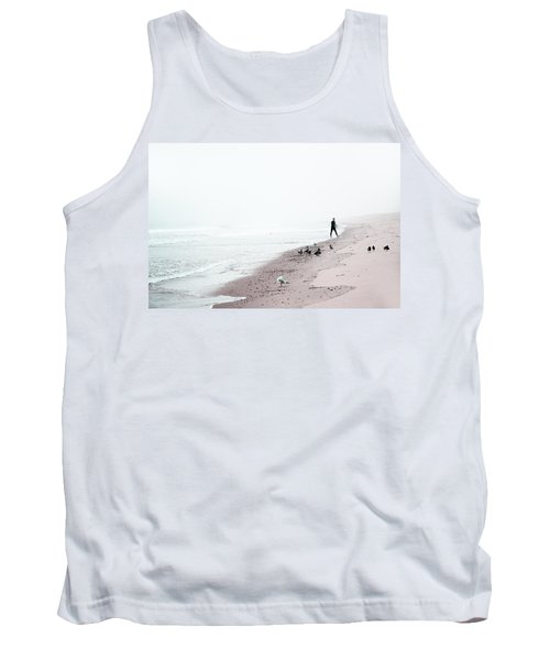 Surfing Where The Ocean Meets The Sky Tank Top by Brooke T Ryan