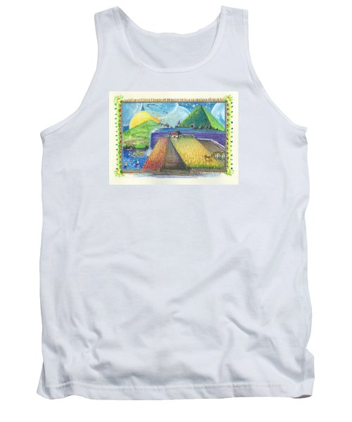 Tank Top featuring the painting Surreal Landscape 1 by Christina Verdgeline