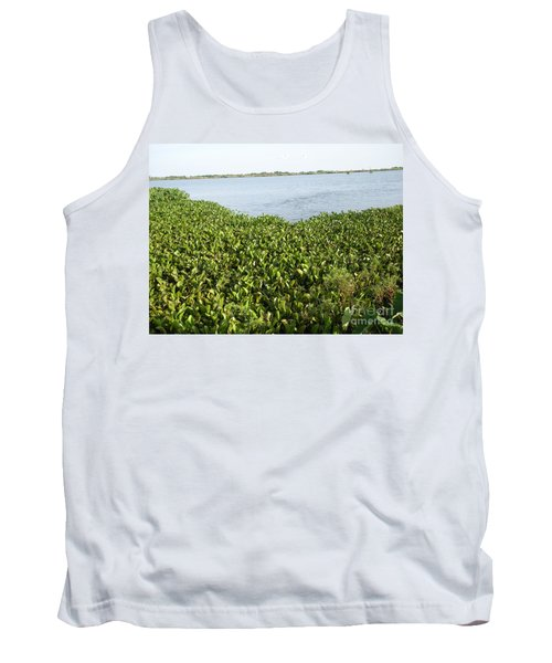 Tank Top featuring the photograph Swamp Hyacinths Water Lillies by Joseph Baril