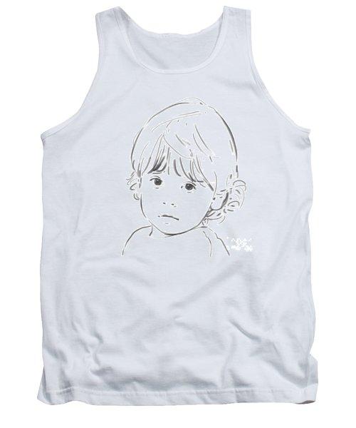 Tank Top featuring the drawing Sweet Girl by Olimpia - Hinamatsuri Barbu