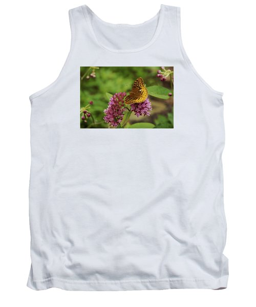 Tank Top featuring the photograph Sweet Nectar - Butterfly On Milkweed Art Print by Jane Eleanor Nicholas