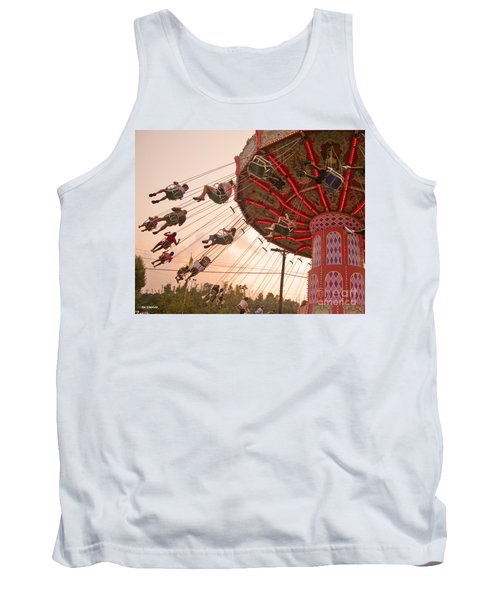 Swings At Kennywood Park Tank Top by Carrie Zahniser