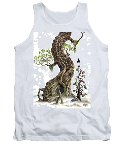 Tank Top featuring the painting Sylvia And Her Lamp On White by Curtiss Shaffer