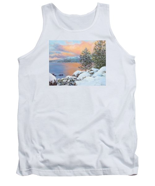 Tahoe Winter Colors Tank Top by Donna Tucker