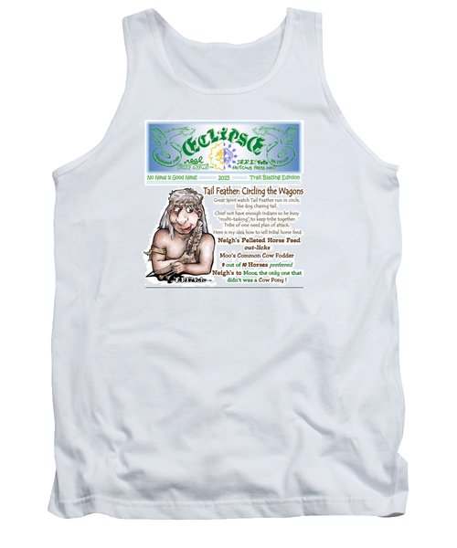 Tank Top featuring the painting Real Fake News Circling The Wagons Column 1 by Dawn Sperry