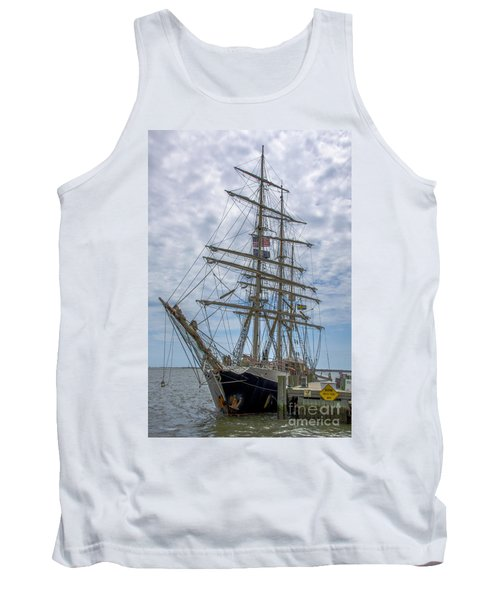 Tank Top featuring the photograph Tall Ship Gunilla Vertical by Dale Powell