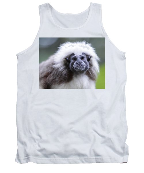Tank Top featuring the photograph Tamarins Face by Shoal Hollingsworth