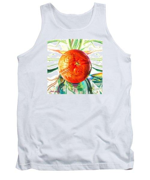 Tangerine Orb Nouveau Tank Top by Robin Moline
