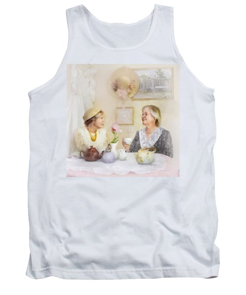 Tea And Talk Tank Top by Francesa Miller