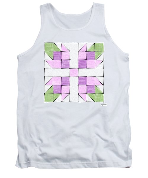 Tea Rose Quilt Block Tank Top by Sandy MacGowan