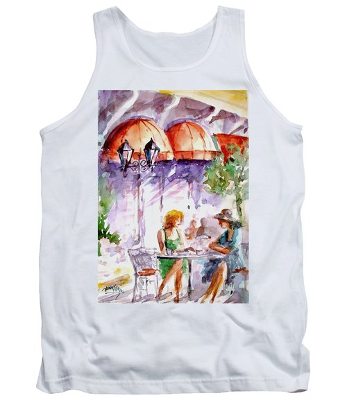 Tank Top featuring the painting Tea Time...  by Faruk Koksal