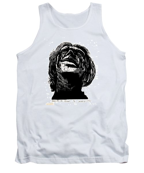 Tank Top featuring the relief Tears For Her Dead by Seth Weaver