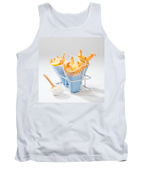Tempura Prawns Tank Top by Amanda Elwell