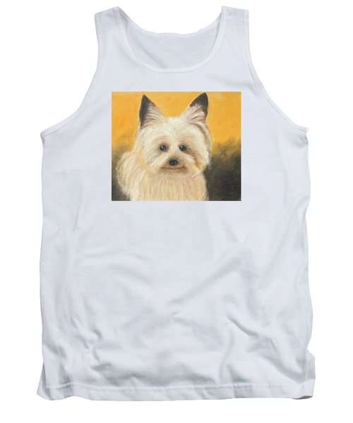 Tank Top featuring the painting Terrier by Jeanne Fischer