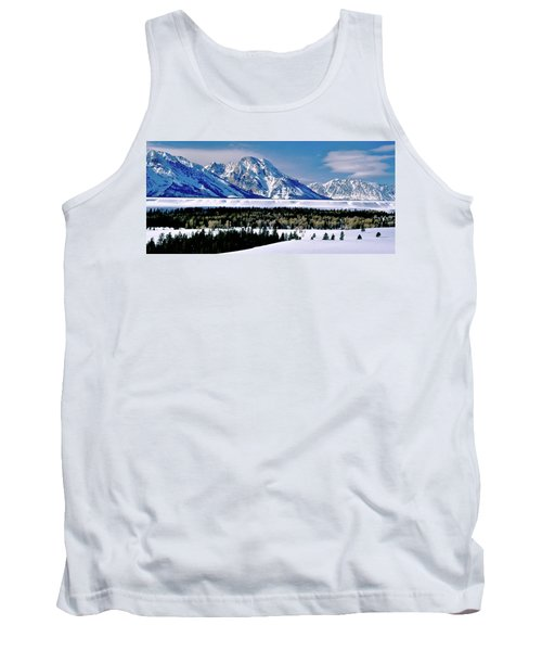 Teton Valley Winter Grand Teton National Park Tank Top
