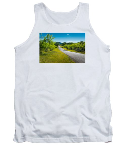 Tank Top featuring the photograph Texas Hill Country Road by Darryl Dalton