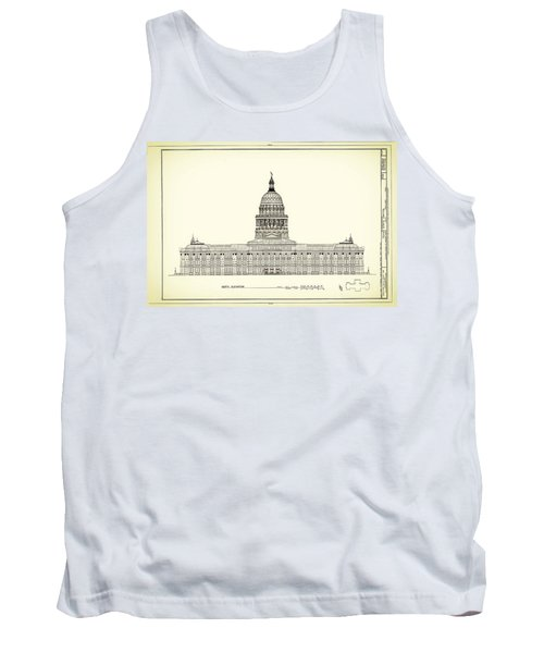 Texas State Capitol Architectural Design Tank Top