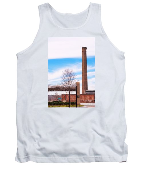Tank Top featuring the photograph Historical Textile Mill Smoke Stack In Columbus Ga by Vizual Studio