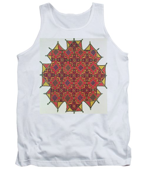 Textile With Geometric Pattern Tank Top