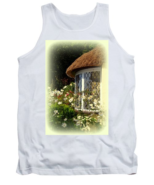 Thatched Cottage Window Tank Top by Carla Parris
