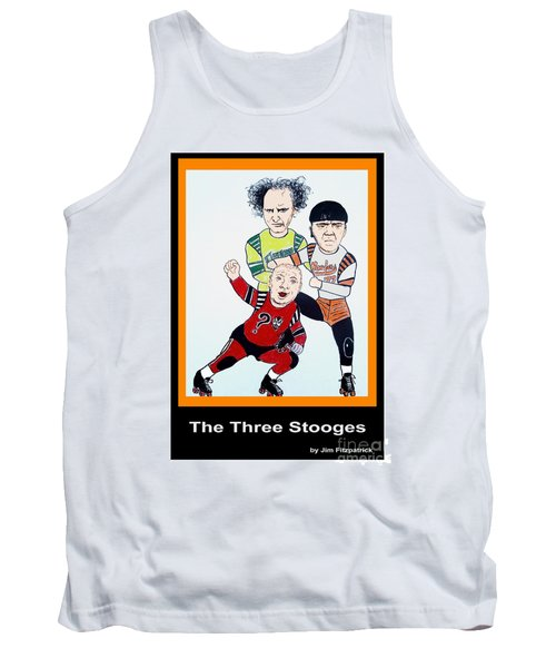 The 3 Stooges Playing Roller Derby Tank Top
