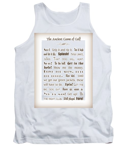 The Ancient Game Of Golf - Sepia Tank Top