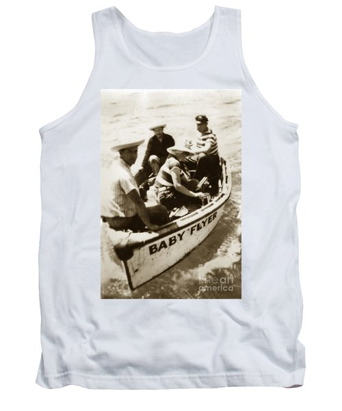 The Baby Flyer With Ed Ricketts And John Steinbeck  In Sea Of Cortez  1940 Tank Top