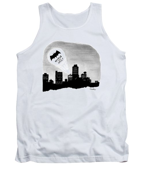 The Bat Signal Says Netflix And Chill? Tank Top