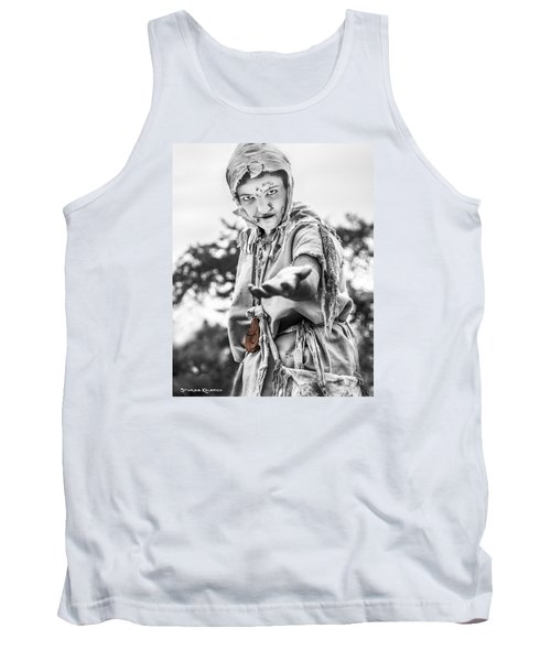 Tank Top featuring the photograph The Begging Leprous by Stwayne Keubrick